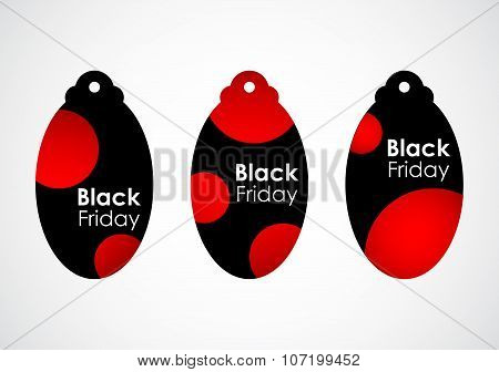 black friday price tags with dotted design