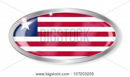 Liberia Flag Oval Button