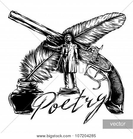 engraving poetic composition