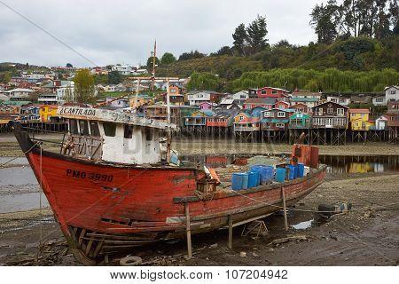 Fishing Boat in Castro