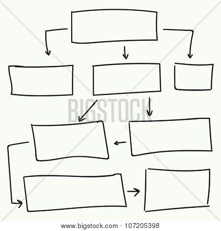 Abstract flowchart vector design