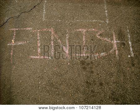 Chalk Finish Line