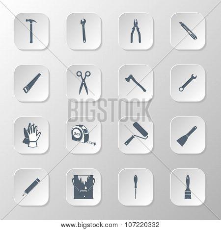 Set Icons Hand Tools