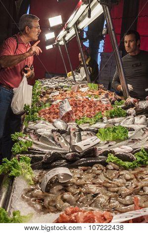 Rialto Fish Market Venice Italy