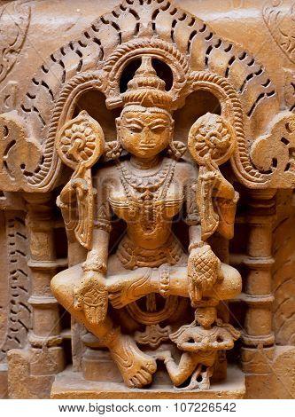 Relief Of Goddess Tara, Female Buddha, India.