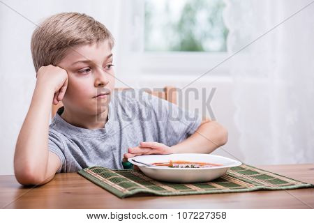 Boy Having No Appetite