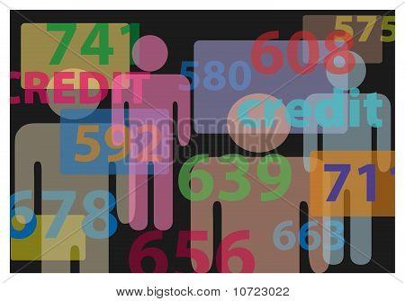 Menschen Kreditkarten Score Report