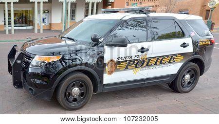Santa Fe Police Department car.