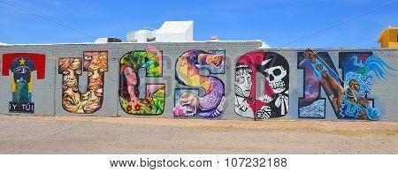 Tucson tag on wall