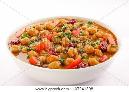 Indian curry dish channa masala.