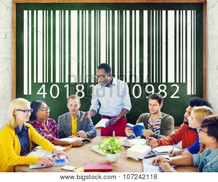 Bar Code Coding Encryption Identity Concept