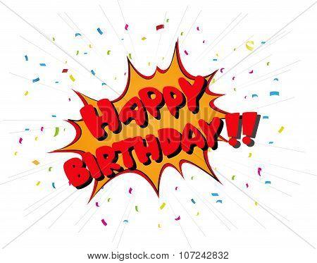 Happy birthday celebration