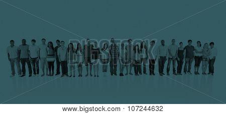 Abreast Ethnicity Diversity Teamwork Togetherness Concept