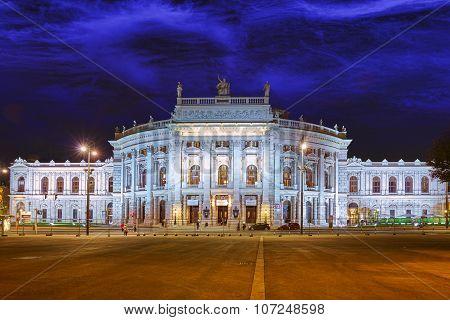 Burgtheater (imperial Court Theatre), Originally Known As K.k. Theater An Der Burg,vienna. Austria.