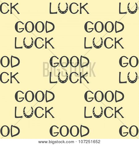 Pattern With Good Luck Lettering