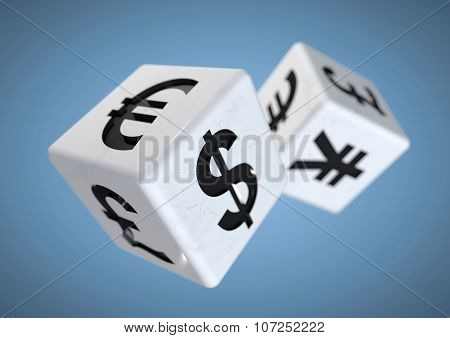 Gambling On The Finacial Currency Market. Financial Advise Concept.