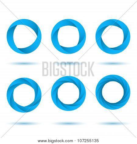 Blue Segmented Circles