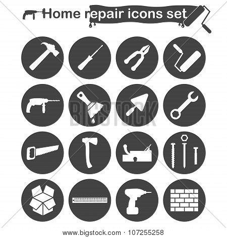 Home Repair And Renovation Icons Set
