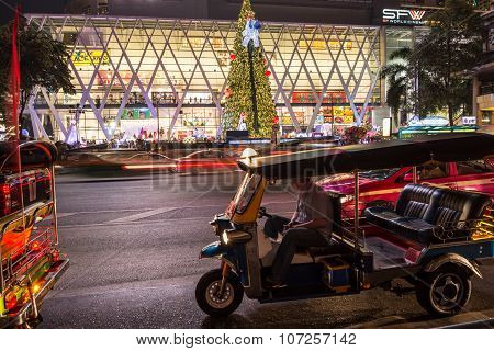 Tuk Tuk And Christmas Tree