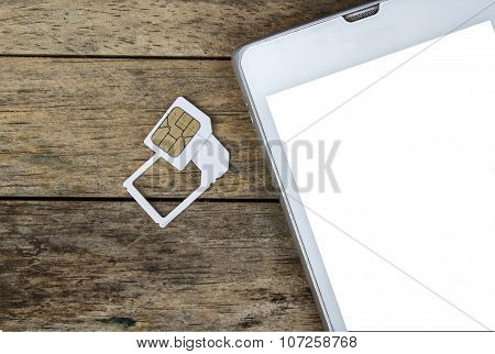 smart phone use with micro sim card by adapter and normal sim card white screen