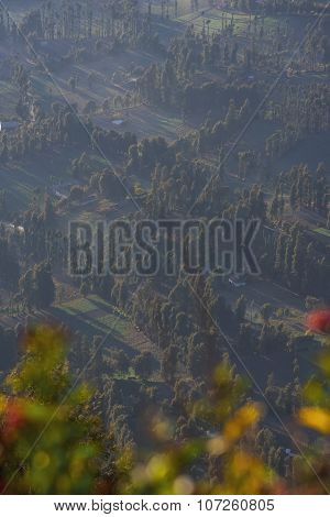 Close up Cemoro Lawang Village from PinajakanII view point Java ,Indonesia.
