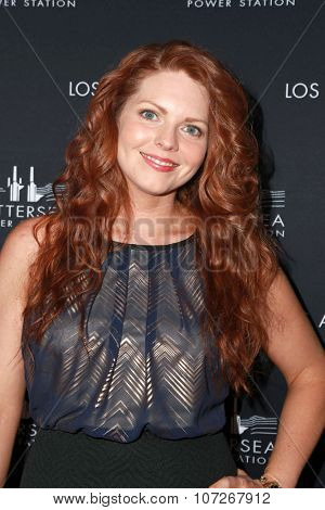 LOS ANGELES - NOV 6:  April Glover at the Battersea Power Station Global Launch Party at the The London on November 6, 2014 in West Hollywood, CA