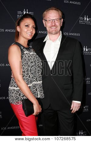 LOS ANGELES - NOV 6:  Allegra Riggio, Jared Harris at the Battersea Power Station Global Launch Party at the The London on November 6, 2014 in West Hollywood, CA