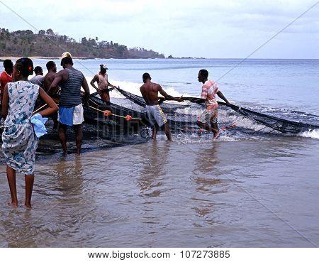 Local fishermen, Tobago.