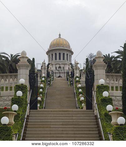 Haifa Bahai Temple and beautiful gardens Israel