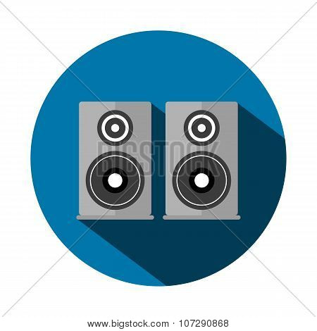 Vector Illustration Of A Flat Acoustic System