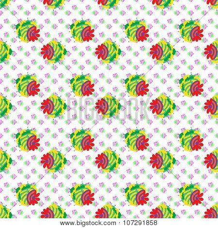 Strawberry Seamless Vector Pattern