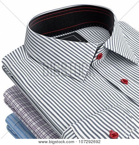Classical shirt, view of the collar