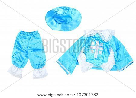 Musketeer Costume On White Background.