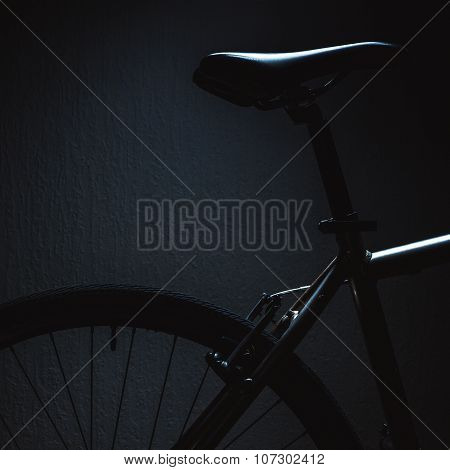 Accentuated Shapes Of A Bicycle