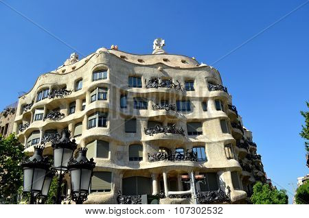 La Pedrera - Casa Mila A Modernist Building The Last Civil Work Designed By Antoni Gaudi