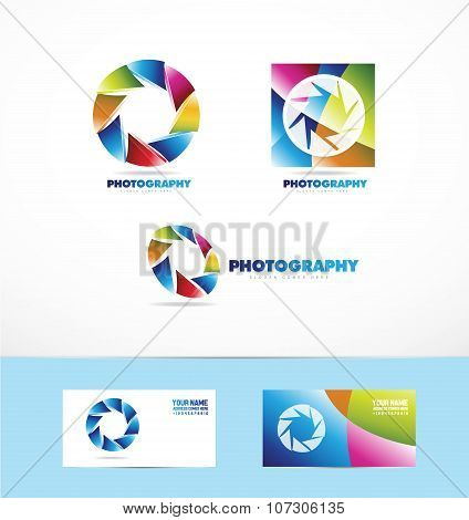 Photography Shutter Diaphragm Logo Icon