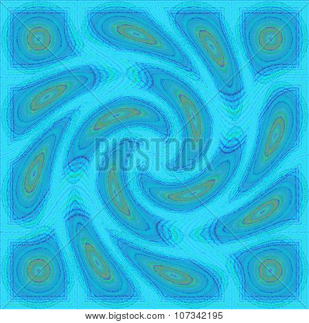 Glossy bur and pixelated seamless colorful psychedelic spiral fractal pattern background poster