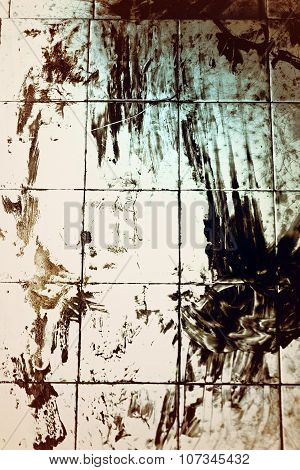 Bloodied Dirty Floor