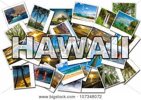 Hawaii pictures collage