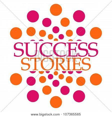 Success Stories Pink Orange Dots