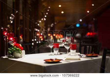 Romantic Dinner Setup