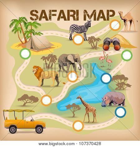 Safari Poster For Game