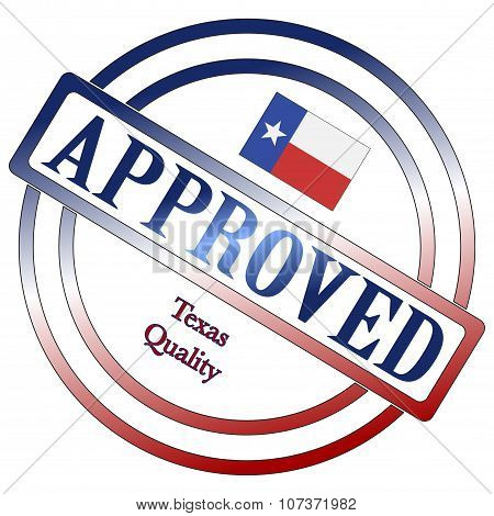 A Texas seal of approval isolated on a white background poster
