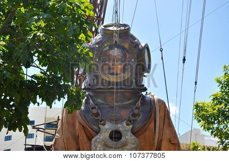 Diver Marionette Closeup at Journey of the Giants in Perth