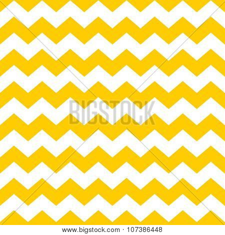 Tile chevron vector pattern with yellow and white zig zag background for seamless decoration wallpaper poster