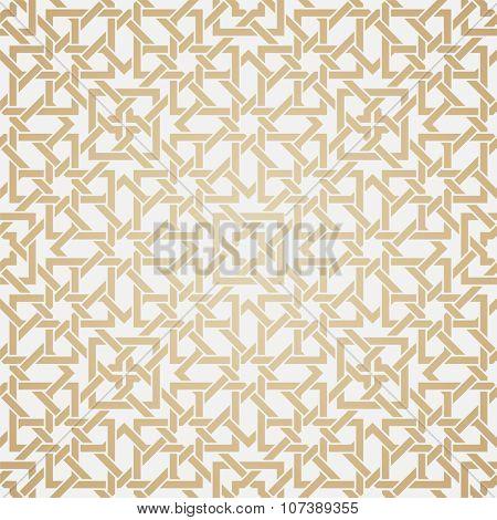 Seamless weave pattern in oriental style