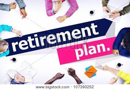 Retirement Plan Retirement Planning Pension Concept poster