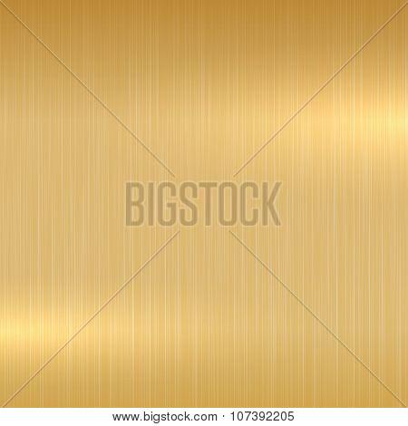 Gold polished surface.