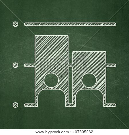 Political concept: Election icon on Green chalkboard background poster