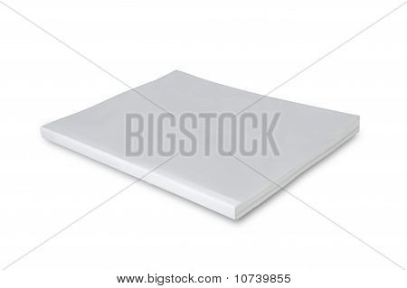 Blank cover page magazine